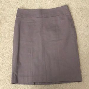 Loft mauve/light purple pencil skirt with side zip